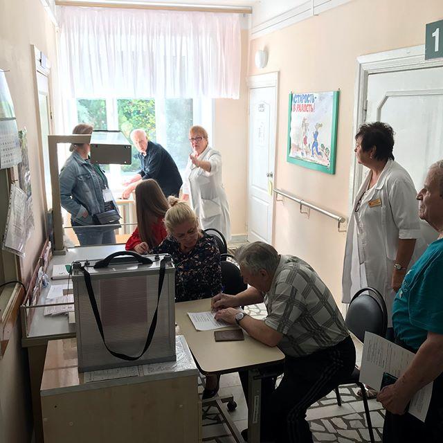 В единый день голосования 9 сентября 2018 года в Российской Федерации прошли выборные кампании различного уровня, В Ульяновской области прошли выборы в Законодательное собрание Ульяновской области (2018). Все пациенты, которые написали заявление на голосование, а их было 102 человека, высказали свою гражданскую позицию #уокгвв #госпитальветеранов #ульяновск